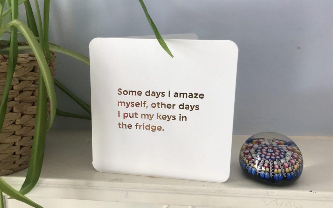 It's okay to put your keys in the fridge