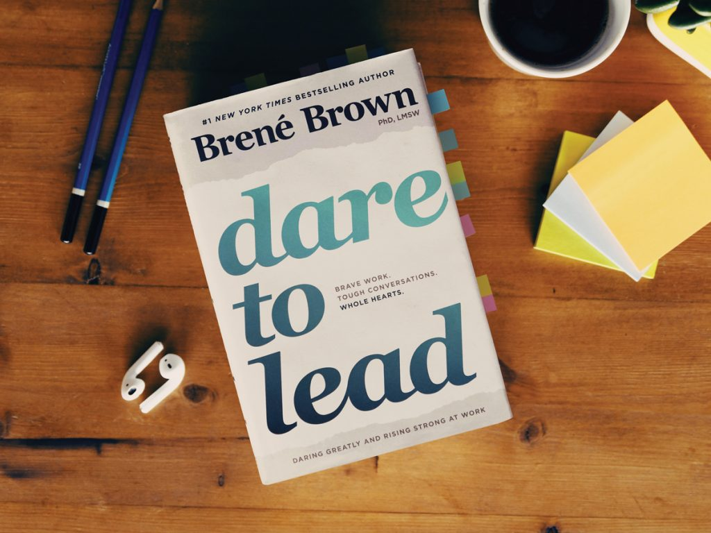The cover of the book Dare To Lead by Brene Brown